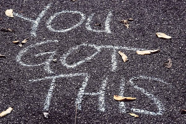 You got this written in chalk on pavement