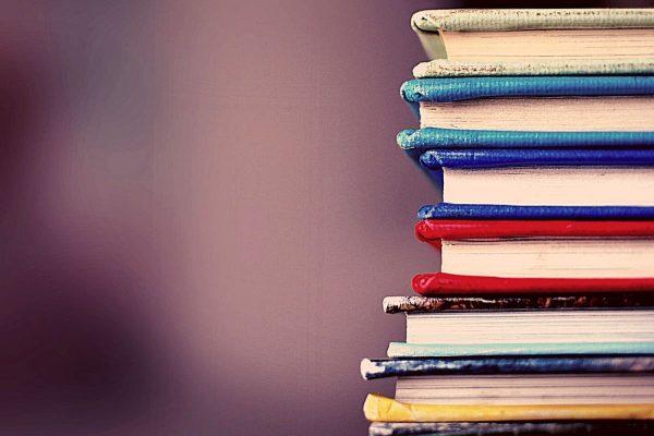 Stack of multicoloured books